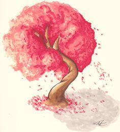 Cherry blossom tree by ~PhyscoNeko on deviantART