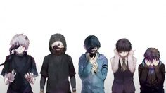 Tokyo Ghoul :D Kanekis Ghoul Transformation (I'm not the original artist, unfortunately I can't credit them either :c )