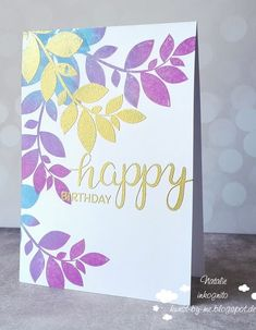 INKognito ~ Cards by Natalie: colored leaves / farbige Blätter