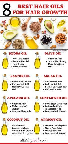 8 Best Carrier Oil For Hair Growth & Healthy Hair