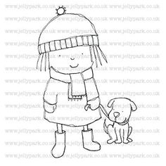235 Walking the Dog digital stamp