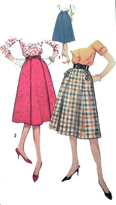 Vintage 1950s skirt sewing pattern Simplicity