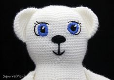 Satin Stitch Amigurumi Face Tutorial by Squirrel Picnic