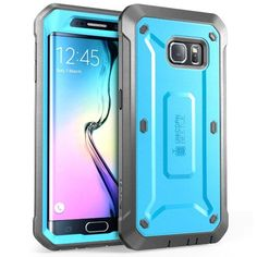 Galaxy S6 Edge Case, SUPCASE Full-body Rugged Holster Case WITH OUT Built-in Screen Protector for Samsung Galaxy S6 Edge (2015 Release), Unicorn Beetle PRO Series - Retail Package (Blue/Black)