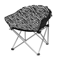 folding club chair bed bath beyond strongback canada with pocket plush zebra purple cushioned seat for extra comfort lightweight durable folds up easy storage transport colors include grey or fashion print selection