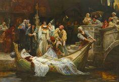 George Edward Robertson (British, 1864), The Lady of Shalott, 1900