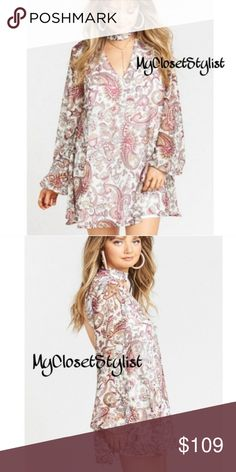 9d856f050e3c Spotted while shopping on Poshmark  Show Me Your MuMu Long Sleeve Paisley  Dress M NWT