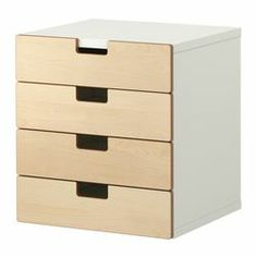 "STUVA storage combination with drawers, birch, white Width: 23 ½ "" Depth: 19 ¾ "" Height: 25 ¼ "" Width: 60 cm Depth: 50 cm Height: 64 cm"