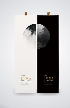 Luna wine packaging by Yu Ping Chuang on Behance Graphisches Design, Wine Design, Book Design, Layout Design, Interior Design, Graphic Design Agency, Graphic Design Inspiration, Wine Packaging, Packaging Design