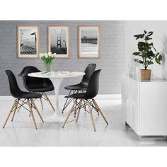 Mid Century Modern Molded Chair with Wood Leg, Set of 2 - Walmart.com