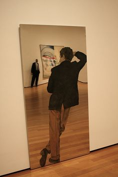 """This piece titled """"Man with Yellow Pants"""" by Michelangelo Pistoletto was probably my favourite thing at MoMa during my November 2011 visit. Absolutely stunning."""