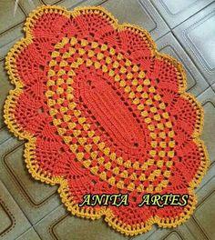 Belleza ton Crochet Diagram, Filet Crochet, Crochet Round, Crochet Baby, Baby Knitting Patterns, Crochet Carpet, Crochet Home Decor, Chrochet, Handmade Rugs