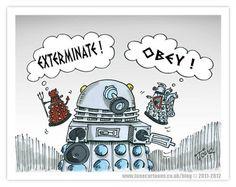 Image via We Heart It https://weheartit.com/entry/130610732 #Dalek #doctorwho #exterminate