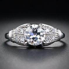 Split shank art deco engagement ring
