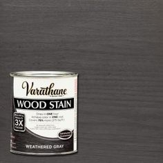 Varathane, 1 qt. 3X Weathered Gray Premium Wood Stain (2-Pack), 267124 at The Home Depot - Mobile