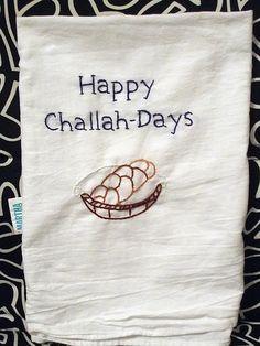 Hanukkah Inspired Towels - Jewish embroidery