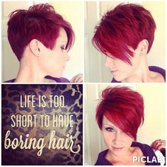 Bold - short sassy haircut