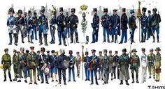 Uniforms of the Royal Marechaussee from 1814 till now