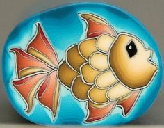 Yellow Fish Polymer Clay Cane 'Under the Sea' от ikandiclay, $8.00
