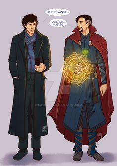 Sherlock meets Doctor Strange by La1sara