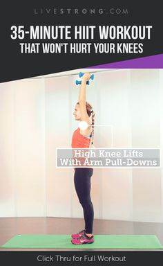 A 35-minute high-octane HIIT workout that's safe for your knees!