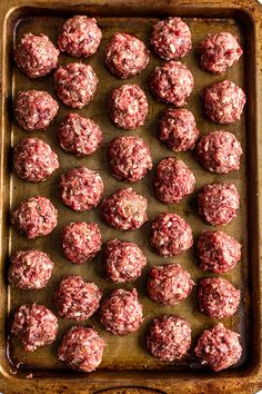Best Ever Venison Meatballs - Miss Allie's Kitchen These Venison Meatballs are the best ever. They're tender and meaty, but not gamey at all. You can make a big batch of them to use up that ground deer meat. Venison Sausage Recipes, Ground Venison Recipes, Crockpot Meat, Deer Meat Recipes Ground, Ground Meat, Meatball Recipes, Cooking With Ground Venison, Recipes With Deer Meat, Deer