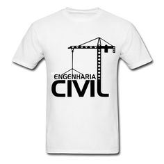 Camiseta Engenharia Civil + Frete Gratís