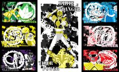 Morph into action with these 7 collectable original canvas panel prints of the original Power Rangers. Choose between: Black Ranger Red Ranger Pink Ranger Yellow Ranger Blue Ranger Green Ranger & White Ranger  Each individual print is 8x10in  They are made on high quality canvas material. All canvases are painted then pressed to allow maximum adhesion, they are then double modge podge then sprayed with a protective fixative. This protects the image from; fingerprints, smudging, spills, st...