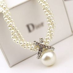 Fashion Women Pendant Chain Choker Chunky Pearl Statement Bib Necklace Jewelry #Unbranded #Pendant