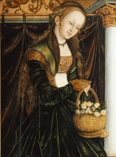 St. Dorothea - by Lucas Cranach the Elder