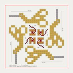 Cross Stitch Happy: New Stork Scissors Square Fob