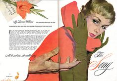 Great composition and beautifully painted hands - Good Housekeeping  Illustrated by Coby Whitmore, 1950's (via Leif Peng)