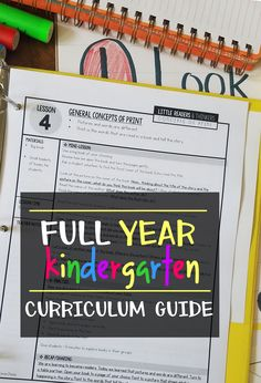 Kindergarten Curriculum Guide FREE