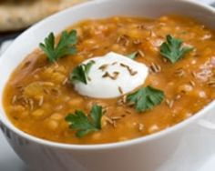 Soupe de lentilles corail au yaourt (facile, rapide) - Une recette CuisineAZ