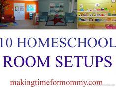 Homeschool Room Setup Ideas #Homeschool