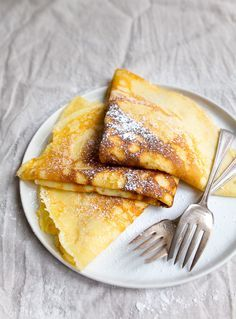 Crepe recipe for two people. Dessert for two (will be using GF Flour)