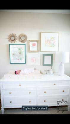 Art wall above dresser