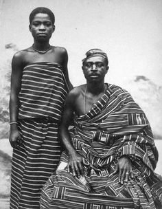 Africa | King of Mampong on the Gold Coast.  Akem people.  Mampong Akwapim, Ghana | Prior to 1917 | © Historical photographs from Basel Mission.