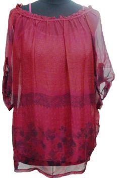 Camisa escotada en uno de los colores estrella de este otoño: burdeos. En LM Lencería Moda. Errenteria.