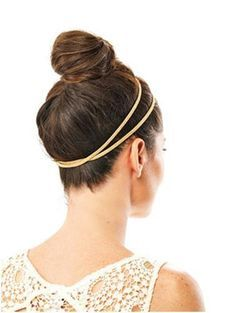 Super sleek gym bun. Great for pilates and general gym work with the hair way out of the way.