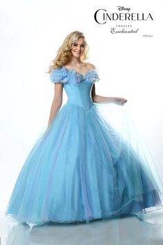 Gorgeous Cinderella Dress. Wonder how many will be showing up in the same dress now at prom. From Disney Style