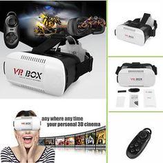 Google Cardboard VR BOX Virtual Reality 3D Glasses Bluetooth Control For Phone