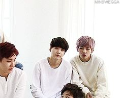 BTS | BANGTAN BOYS..... Suga and V and then theres J-Hope judging Jimin and Rapmon being cute