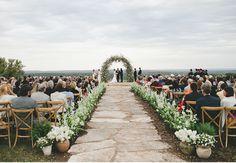 Bohemian Black-Tie Texas Ranch Wedding Ceremony // by The Nouveau Romantics