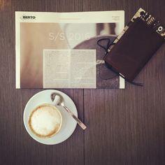 Looking forward!!!                   #kjore #Kjoreproject #breakfast #passport #leather #wallet #cappuccino #caffè #news #love #work #berto #denim @kjoreproject