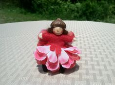 Red and pink flower fairy child on Etsy, $9.00