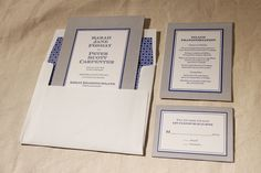 nautical and urban letterpress wedding invitation by Bella Figura