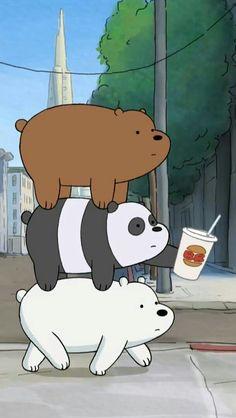 Escándalos ❤️❤️❤️ Funny Phone Wallpaper, Bear Wallpaper, Cute Anime Wallpaper, Wallpaper Iphone Disney, Cute Wallpaper Backgrounds, We Bare Bears Wallpapers, Panda Wallpapers, Cute Cartoon Wallpapers, Cartoon Pics