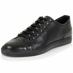 Neil Barrett Studded Leather Sneakers  (Article Code: 9534 01 PBCT69)