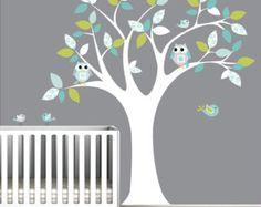 Bébé crèche arbre mur sticker mural par Modernwalls sur Etsy